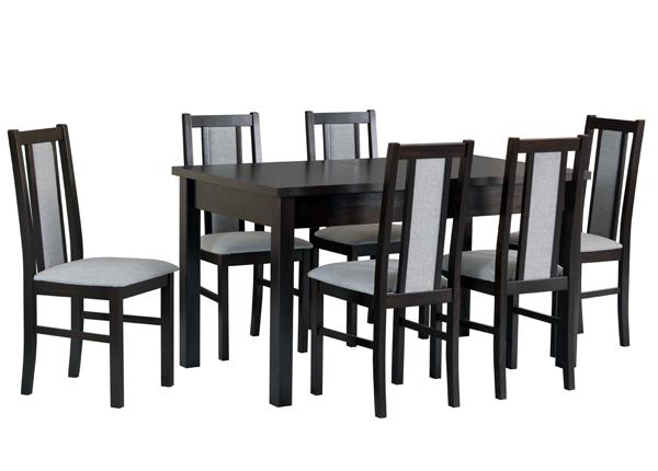 Jatkettava ruokapöytä ja 6 tuolia CM-141132