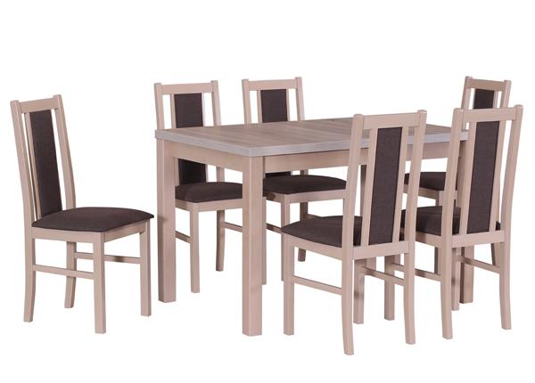 Jatkettava ruokapöytä ja 6 tuolia CM-141133