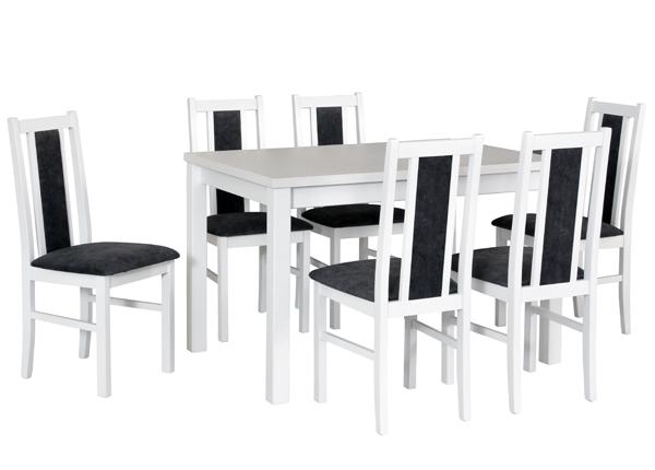 Jatkettava ruokapöytä ja 6 tuolia CM-141138