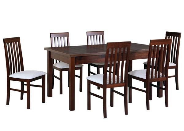 Jatkettava ruokapöytä ja 6 tuolia CM-141143