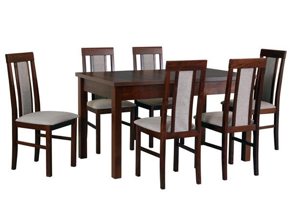 Jatkettava ruokapöytä ja 6 tuolia CM-141301