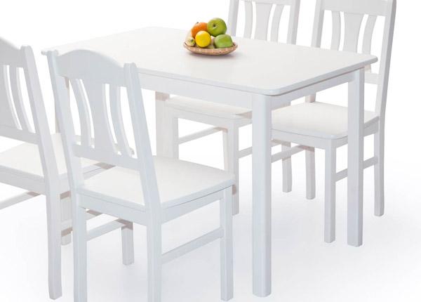 Ruokapöytä PER 120x70 cm, valkoinen EC-141326