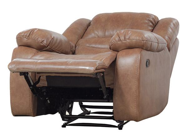 Nojatuoli jalkatukimekanismilla RELAX2, kullanruskea nahka BM-142866