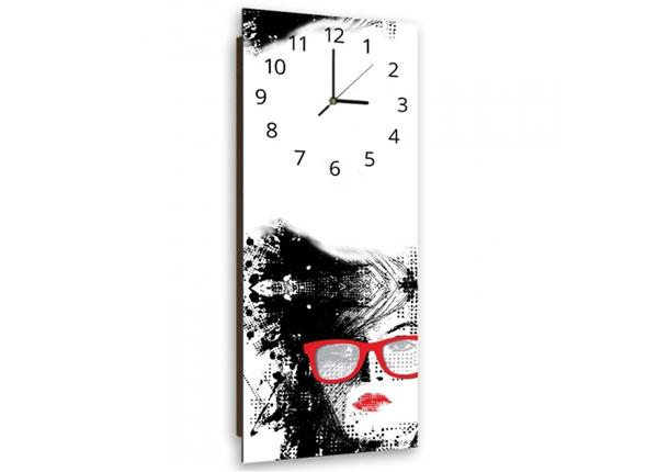 Kuvallinen seinäkello WOMAN WITH GLASSES ED-143900