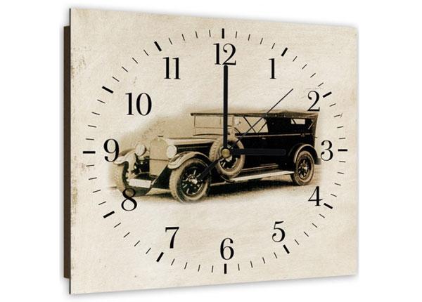 Kuvallinen seinäkello Old car