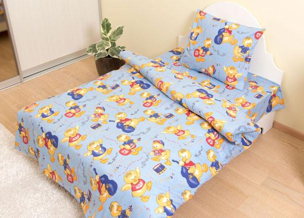 Lasten pussilakanasetti Sininen sorsa 110x145