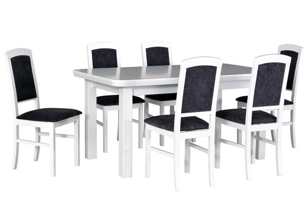 Jatkettava ruokapöytä ja 6 tuolia CM-144340