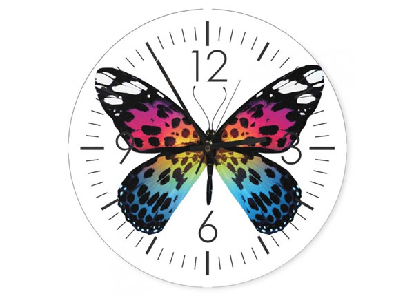 Kuvallinen seinäkello Butterfly
