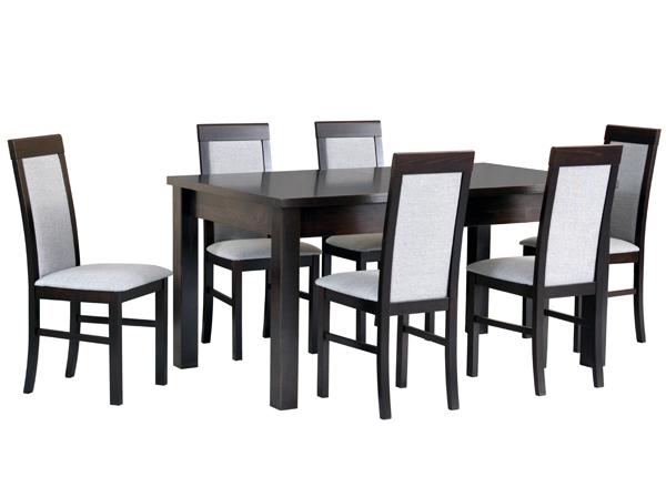 Jatkettava ruokapöytä ja 6 tuolia CM-144357