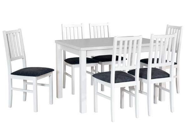 Jatkettava ruokapöytä ja 6 tuolia CM-144362