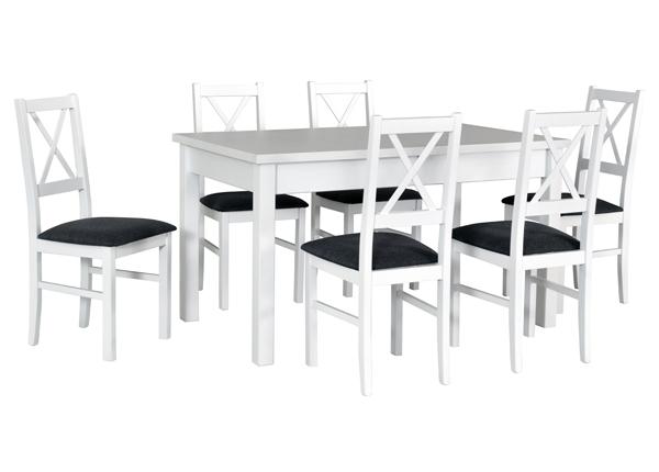Jatkettava ruokapöytä ja 6 tuolia CM-144363