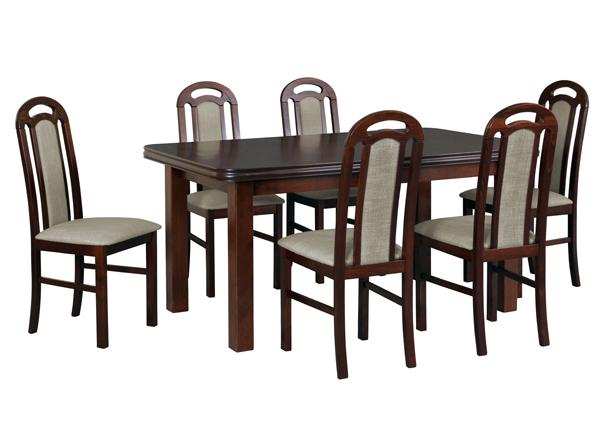 Jatkettava ruokapöytä ja 6 tuolia CM-144364