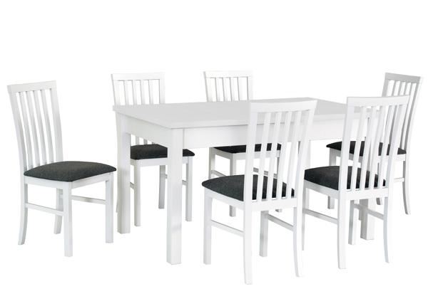 Jatkettava ruokapöytä ja 6 tuolia CM-144367