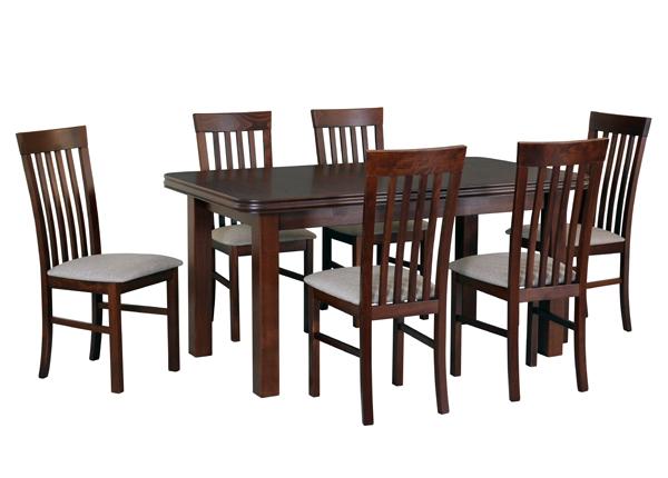 Jatkettava ruokapöytä ja 6 tuolia CM-144368