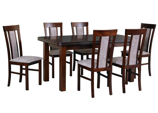 Jatkettava ruokapöytä ja 6 tuolia CM-144369