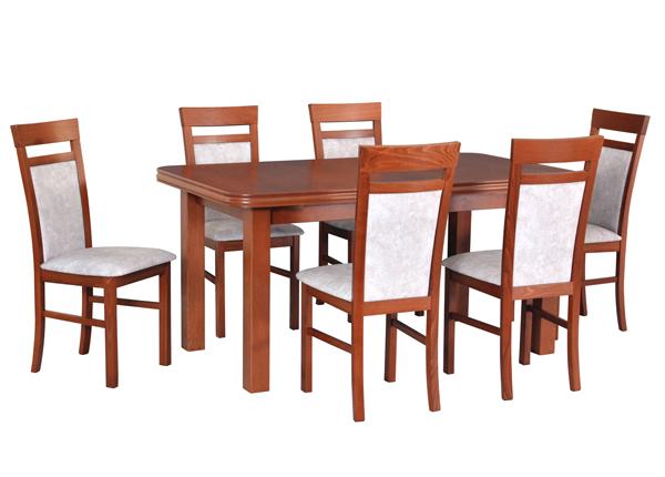 Jatkettava ruokapöytä ja 6 tuolia CM-144371