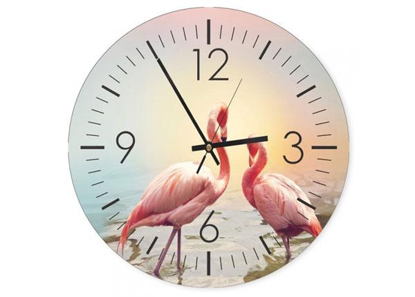 Kuvallinen seinäkello Flamingos 1