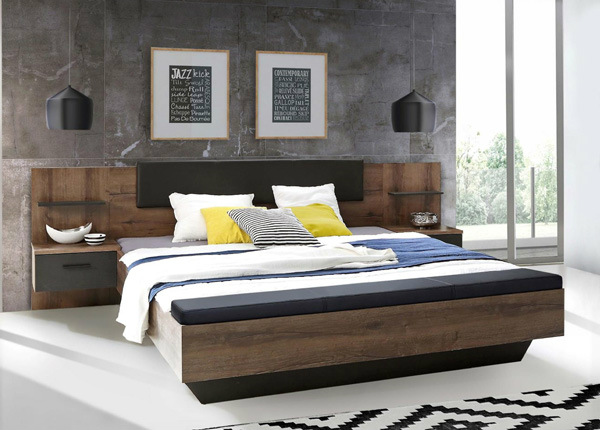 Sänky 180x200 cm ja 2 yöpöytää