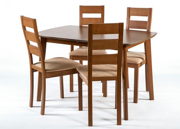 Jatkettava ruokapöytä Bari 80x120-150 cm ja 4 tuolia PARMA, pähkinä GO-145350
