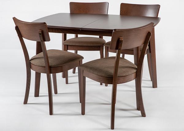 Jatkettava ruokapöytä Bari 80x120-150 cm ja 4 tuolia LUCCA, vaalea wenge GO-145475
