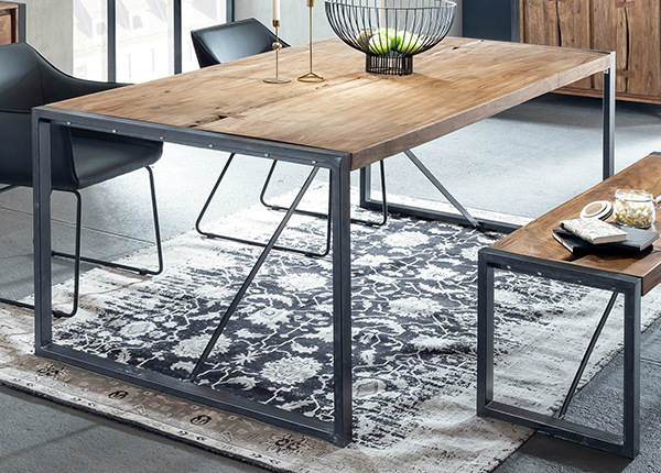Ruokapöytä LIVE EDGE 160x90 cm AY-145698