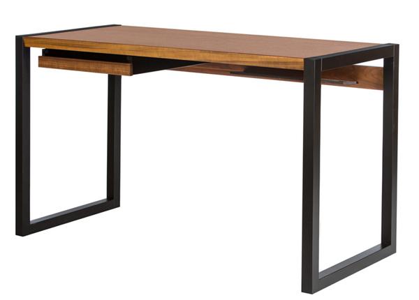 Työpöytä RENFREW, pähkinä/musta