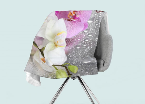 Fleecepeitto Orchids and Rain 130x150 cm ED-146550