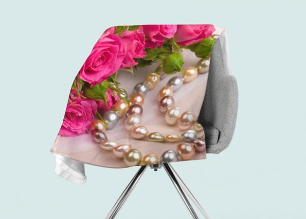 Fleecepeitto Roses and Pearls 130x150 cm ED-146591