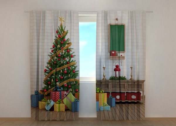 Pimennysverho Christmas Tree with Gifts 240x220 cm ED-146956