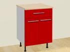 Kaksiovinen keittiökaappi+laatikko 70 cm AR-24813