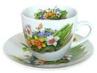 Kahvikuppi ja lautanen NARSISSI 200 ml, 6 kpl ET-35900