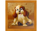 Taulu CHILDREN - DOG 16x16 cm OG-37705