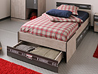 Sänky FABRIC 90x200 cm+vuodevaatelaatikko MA-39731