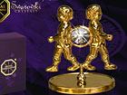 Koriste kullatuilla Swarovski kristalleilla KAKSOSET MO-47012