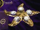 Koriste kullatuilla Swarovski kristalleilla MERITÄHTI MO-47049