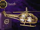 Koriste kullatuilla Swarovski kristalleilla HELIKOPTERI MO-47053