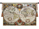 Seinävaate Gobeliini ANTIQUE WORLD MAP 140x97 cm RY-54078