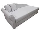 Nahkainen divaani-sänky+vuodevaatelaatikko HELGA 90x200 cm SN-54331