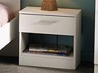 Yöpöytä INFINITY, valkoinen MA-54594