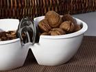 Keraaminen pähkinäkulho ja pihdit SG-56354