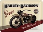 Retrotyylinen metallijuliste HARLEY-DAVIDSON 750 FLATHEAD 20x15 cm SG-57111