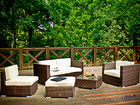 Puutarhakalusteet +nojatuoli, rahi ja sohvapöytä CM-60675