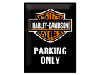 Retrotyylinen metallijuliste HARLEY-DAVIDSON PARKING ONLY 30x40 cm SG-61609