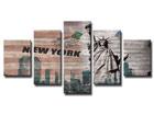 Viisiosainen seinätaulu NEW YORK ED-65518