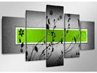 Viisiosainen seinätaulu GRÜN ED-65589