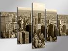 Viisiosainen seinätaulu NEW YORK