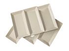 Valkoinen lautanen CLASSIC 28,5x15,5 cm NN-66452