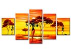 Viisiosainen seinätaulu AFRIKKA ED-67210