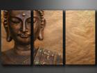 Kolmeosainen seinätaulu BUDDHA