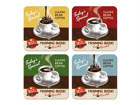 Retro lasinalusta MORNING BLEND 4 kpl SG-68175